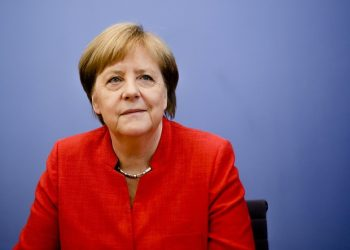 Berlin: German Chancellor Angela Merkel waits for the beginning of her annual summer press conference at the Bundespressekonferenz in Berlin, Germany, Friday, July 20, 2018. AP/PTI(AP7_20_2018_000174A)