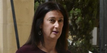 A picture taken on April 27, 2017 shows journalist and blogger Daphne Capuana Galizia arriving at the Law Court in Malta. Capuana Galizia was killed today on October 16, 2017 in a car bomb close to her home in Bidnija, Malta. The force of the blast broke her car into several pieces and catapulted the journalist's body into a nearby field, witnesses said. She leaves a husband and three sons. Caruana Galizia's death comes four months after Prime Minister Joseph Muscat's Labour Party won a resounding victory in a general election he called early as a result of scandals to which Caruana Galizia's allegations were central. / AFP PHOTO / Matthew Mirabelli / Malta OUT